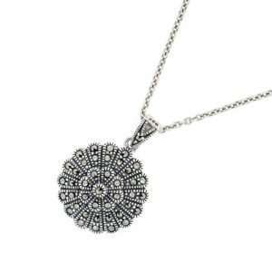 vintage style marcasite pendant