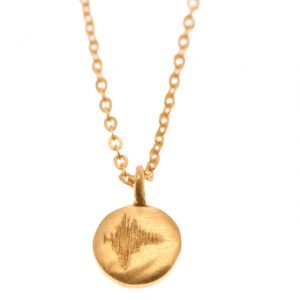 Gold dream disc pendant