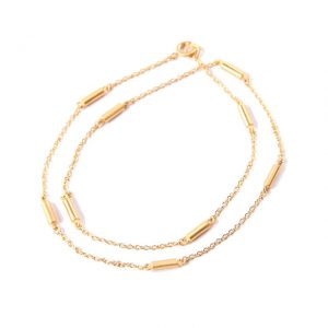 gold wrap bar bracelet