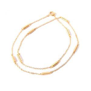 gold wrap bar bracelet