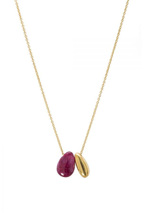 Little Bean ruby pendant