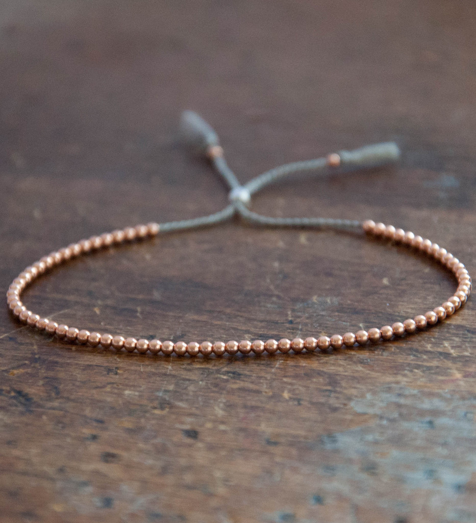 14ct Rose Gold Delicate Bracelet