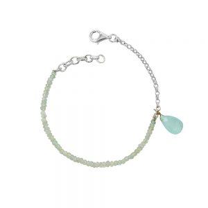 Aqua Gemstone Charm Bracelet
