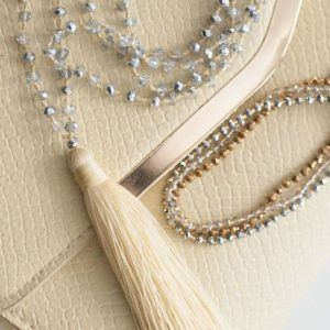 Cream Boho Tassel Necklace