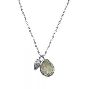 Green Amethyst gemstone Pendant