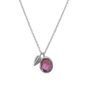 Pink Tourmaline Gemstone Pendant