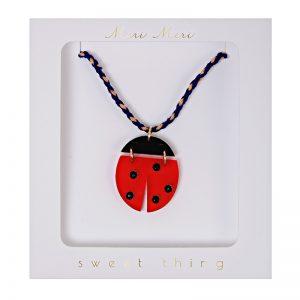 Childrens Ladybug Necklace