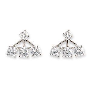 Cz Jacket Stud Earrings